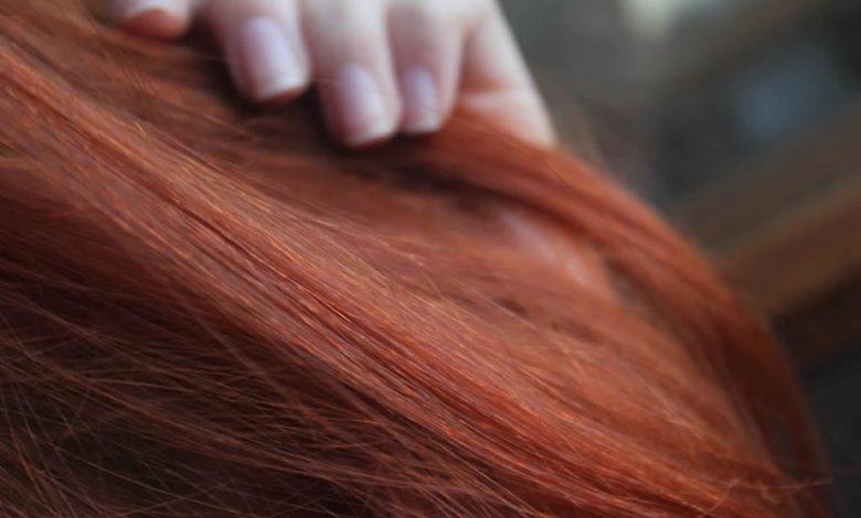 Natural Moroccan henna dye on hair