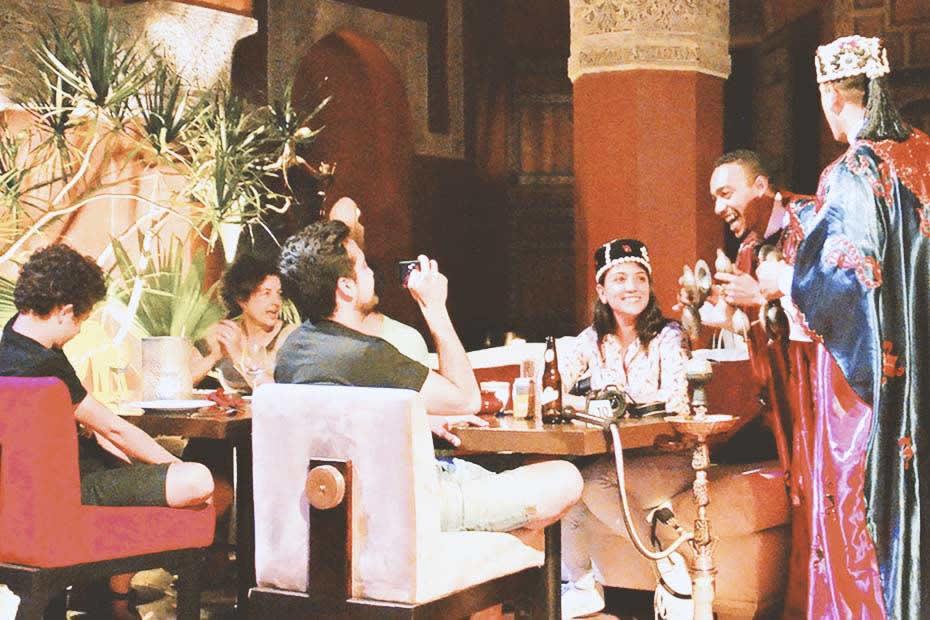 Family happy in Marrakech
