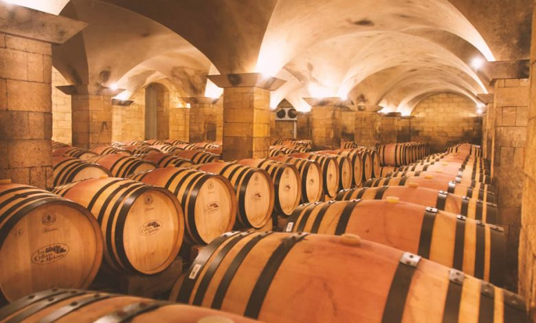 A place in Morocco full with barrels of wine in Meknes called Les Celliers de Meknès