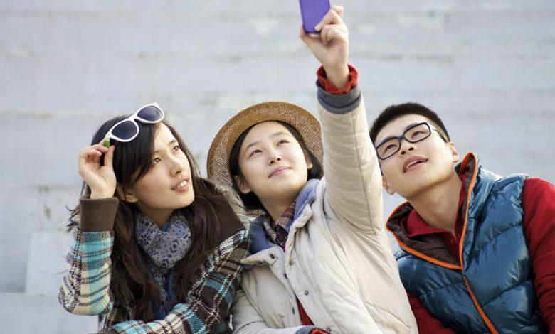 Three Chinese tourists
