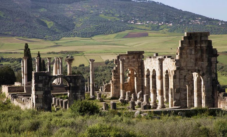 Volubilis a UNESCO World Heritage Site in Morocco, one of the largest Roman cities in Africa.