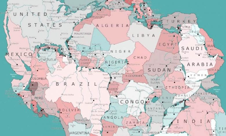 A map, during the Paleozoic era, shows that Morocco was attached to the United States.... 3 billion years ago!
