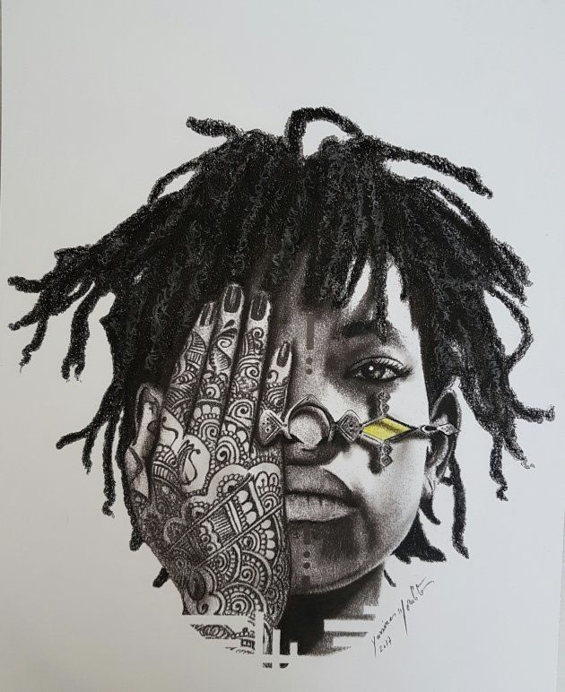 Drawing of Willow Smith by Yassine Morabite