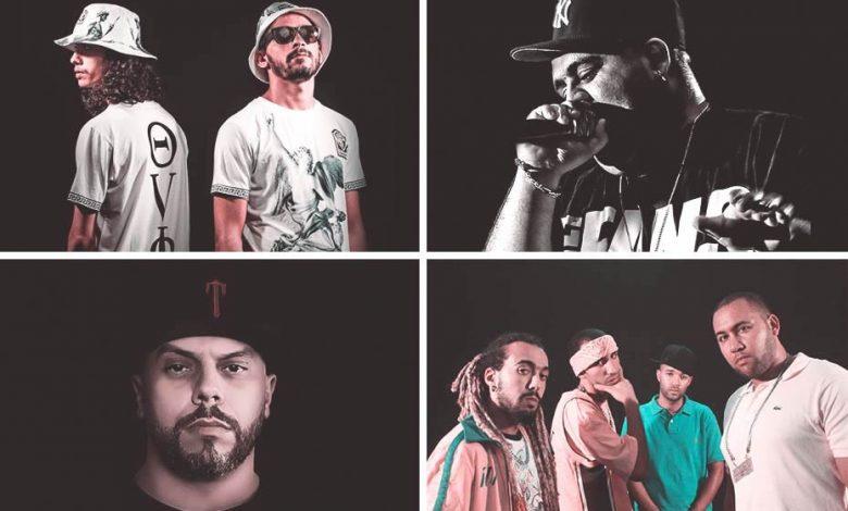 Moroccan rap singers: Shayfeen, Don Bigg, Muslim and Casa Crew