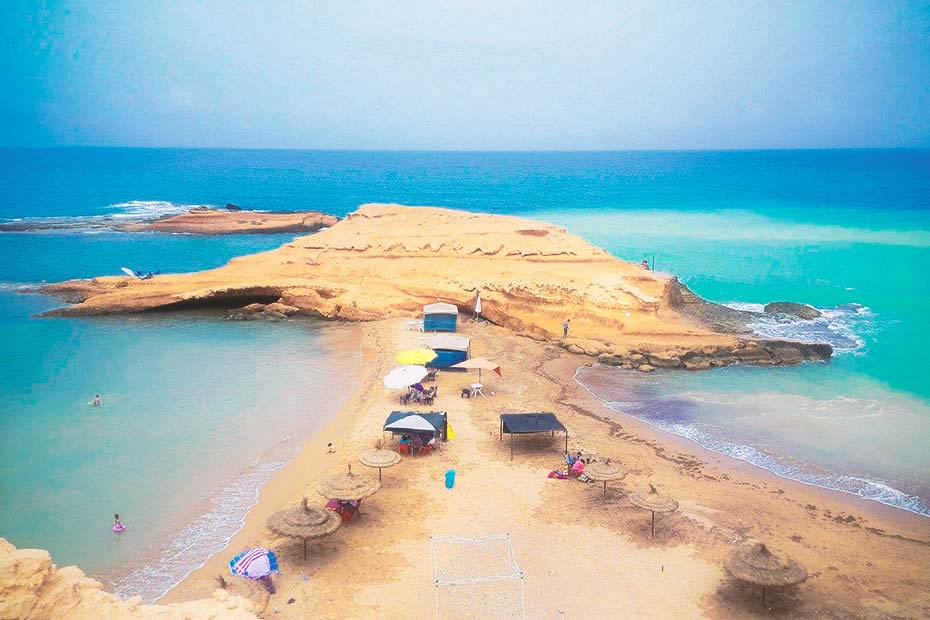 The wild beach of Sid el Bachir in Saidia