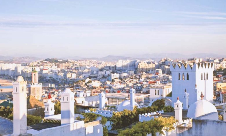 A beautiful view of Tangier, a city in Morocco.