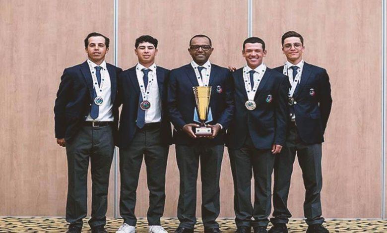 Moroccan golf team who won the 39th Arab Championship of team golf