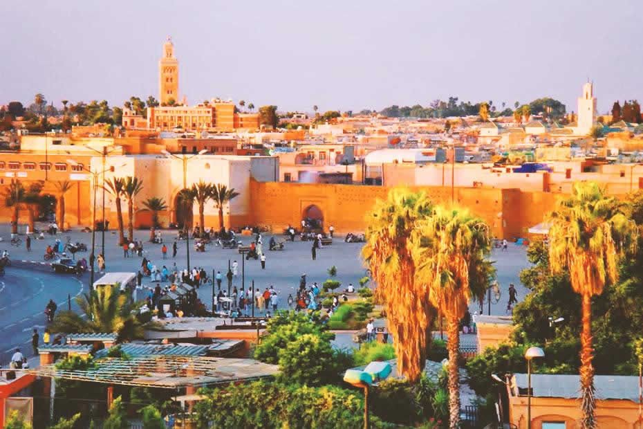 Beautiful view of the Marrakech city