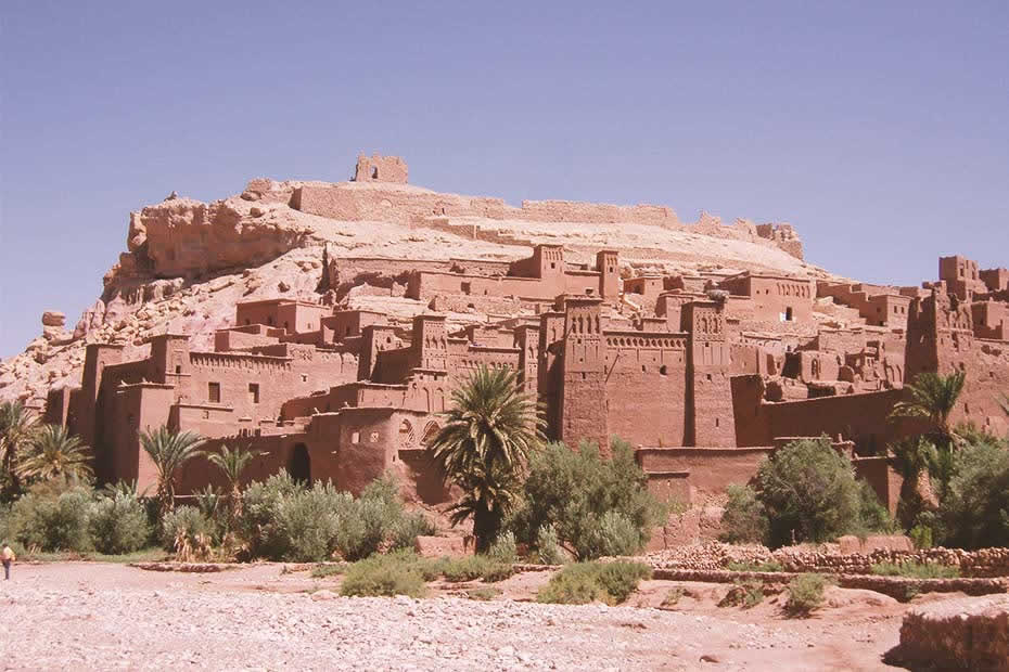 Beautiful view of Ouarzazate's prominent kasbahs