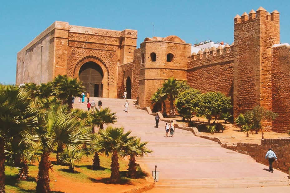 "Casbah walls, famous site of Rabat, called ""The Kasbah of the Udayas""."