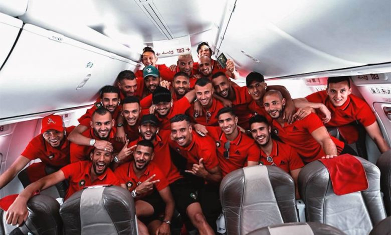 The whole Moroccan team going to Egypt for the 2019 Africa Cup of Nations