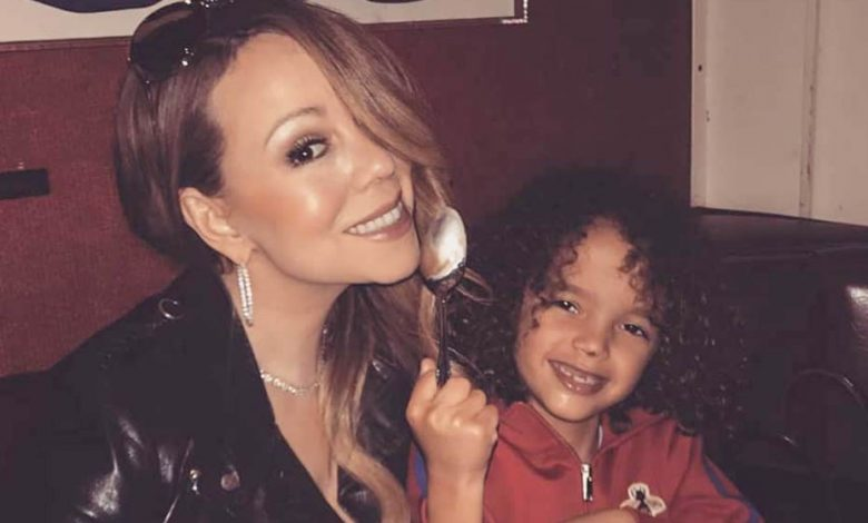 Mariah Carey and her son ''Moroccan''