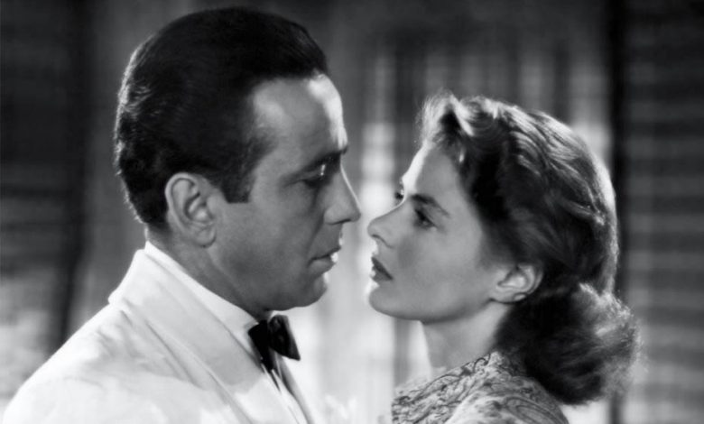 Ingrid Bergman and Humphrey Bogart in the famous movie called Casablanca