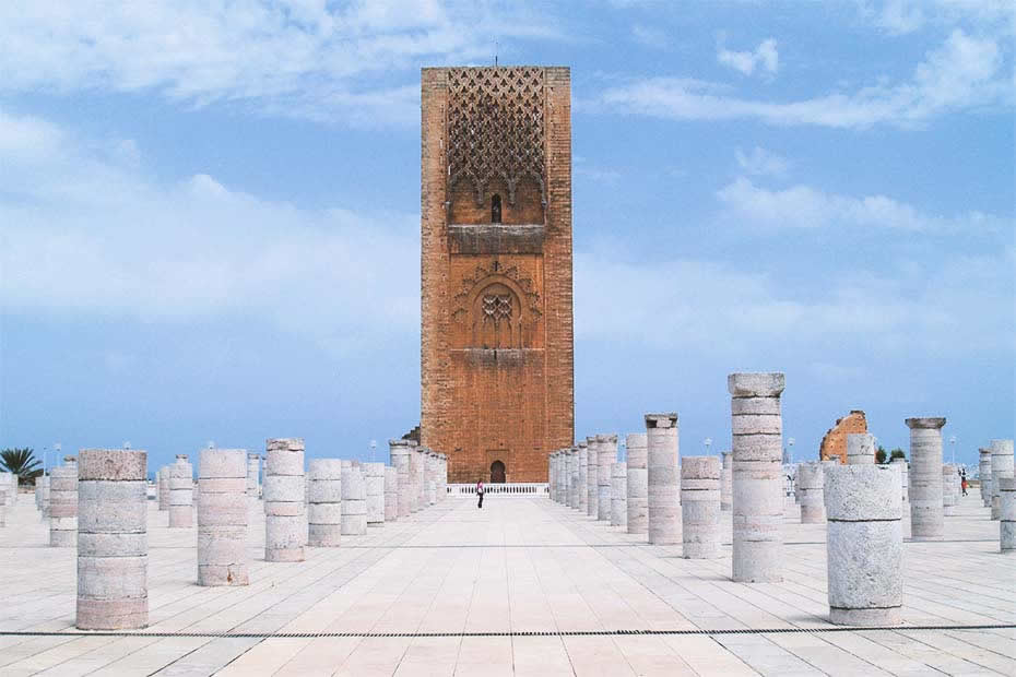 The Hassan tower in Rabat, Morocco.