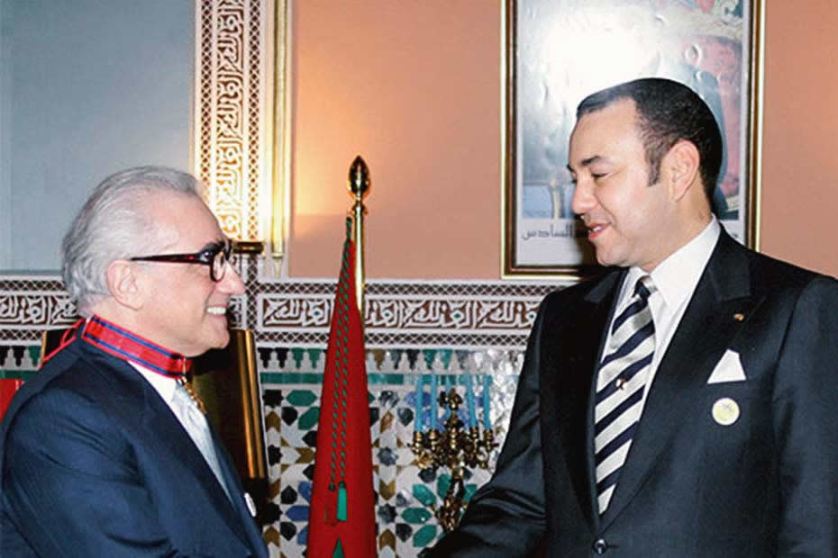 Martin Scorcese and King Mohamed VI of Morocco
