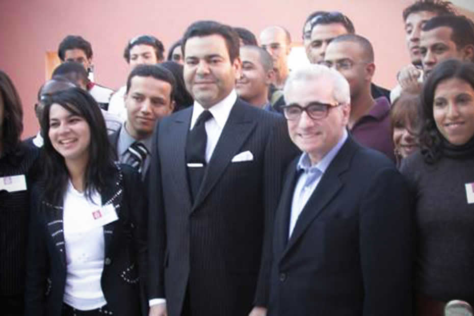 Martin Scorcese with Moulay Rachid, brother of the Moroccan king