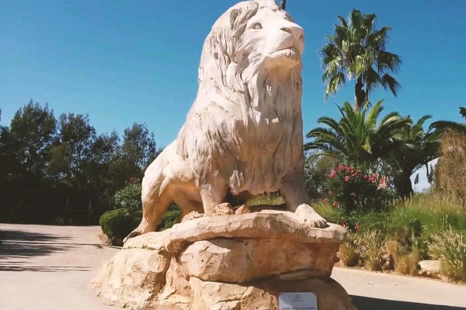 "Rabat Zoo, also known as ""Temara Zoo"" in Morocco."