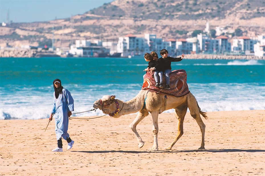 Visit the beaches of Agadir
