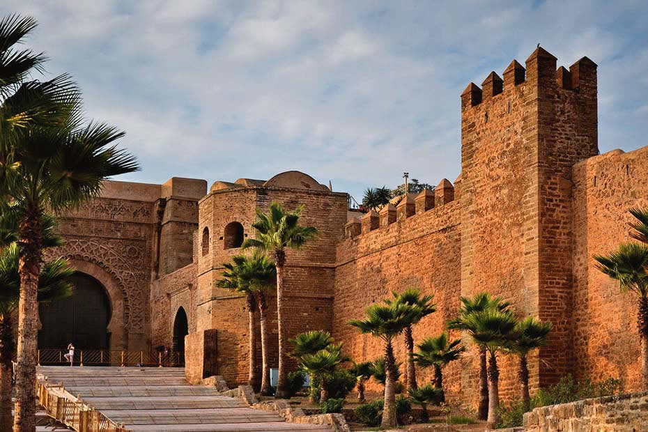 The Kasbah of the Udayas in Rabat, Morocco.