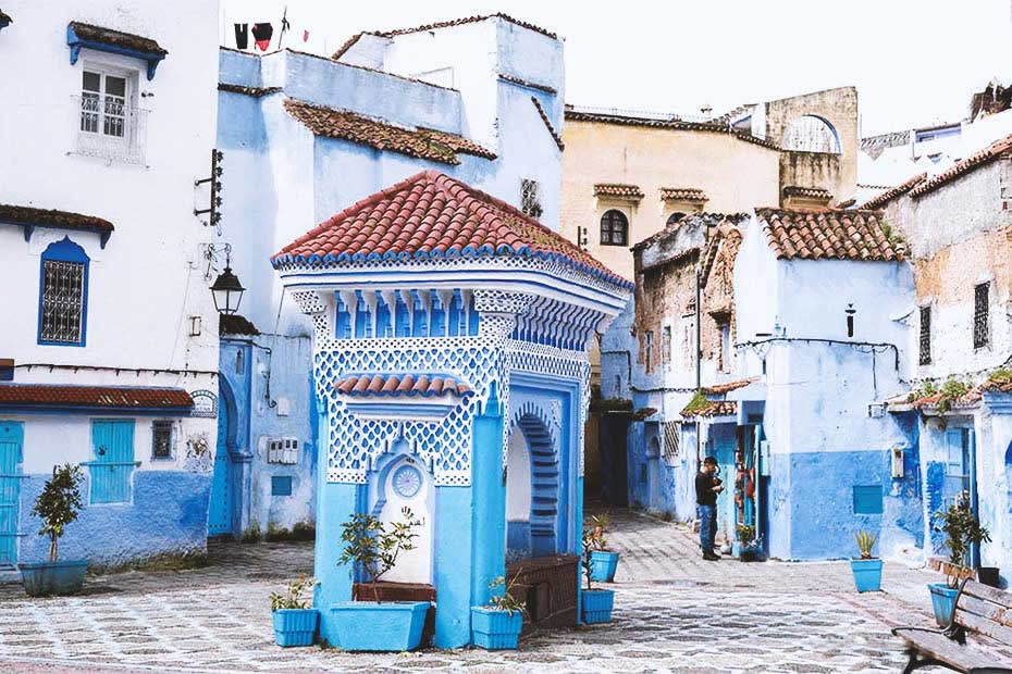 Why is the city of Chefchaouen in Morocco completely blue