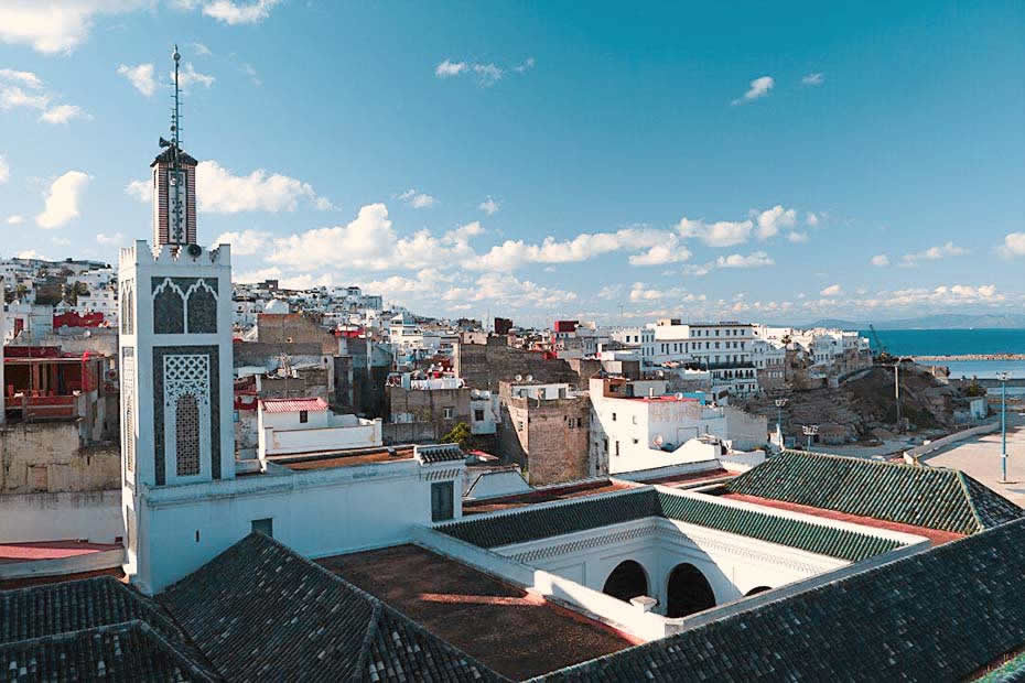 The grand mosque one of the most see places in Tangier, Morocco, to visit