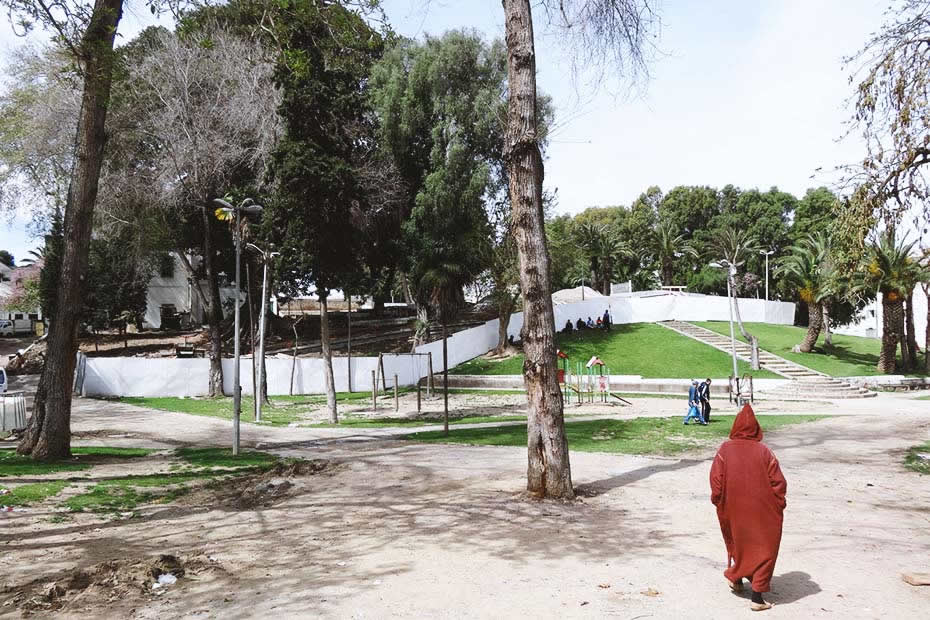 The Mendoubia garden one the beautiful places to visit in Tangier, Morocco.