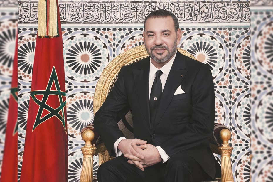 Where is located Morocco, king of Morocco