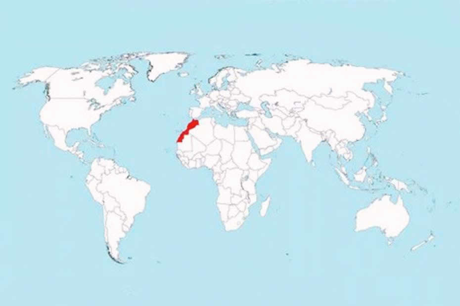 Where is Morocco on the world map