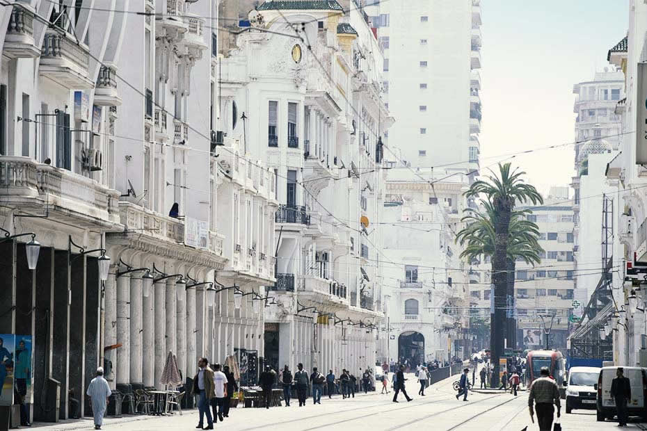 Modern and unique streets of Casablanca