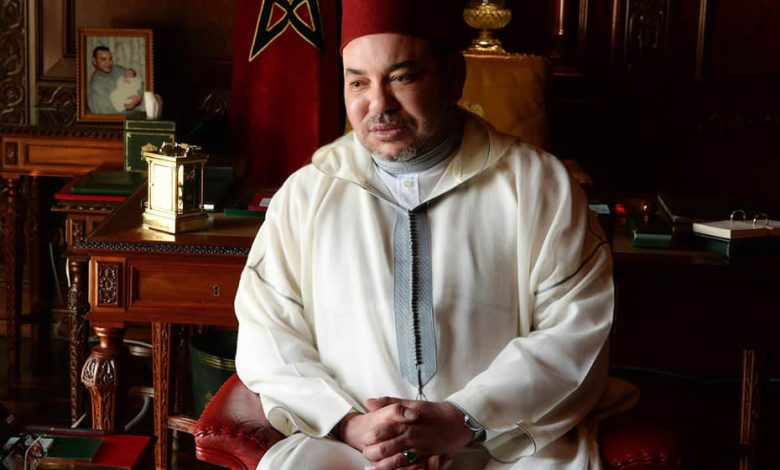 King Morocco Mohammed VI siting on a chair sad and is affected by the Coronavirus?