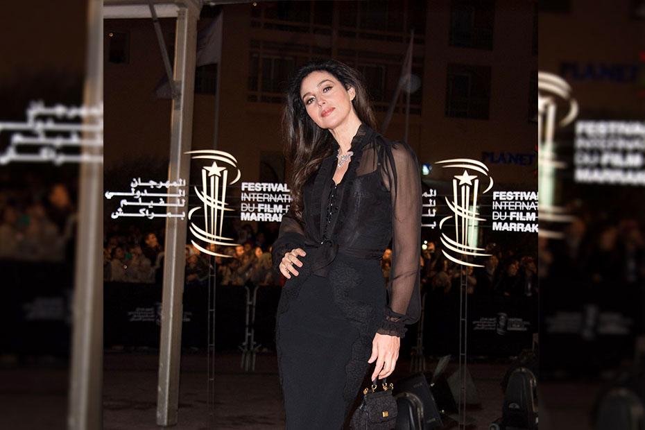 Monica Belluci at the Marrakech International Film Festival