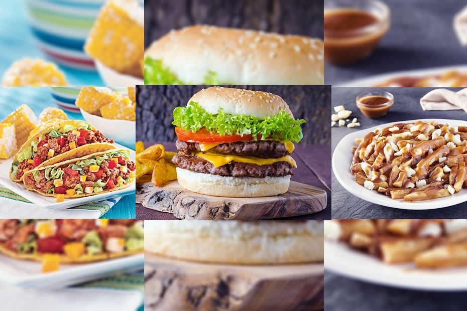 tacos, hamburger, poutine best american food