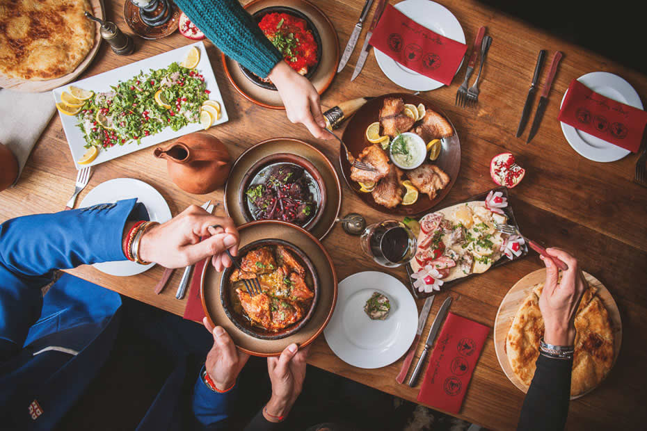 a table filled with delicious food