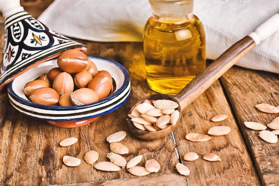 moroccan argan oil on a table- what is morocco known for