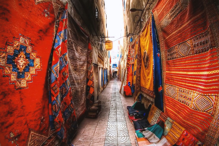 mysterious small alleys of Morocco