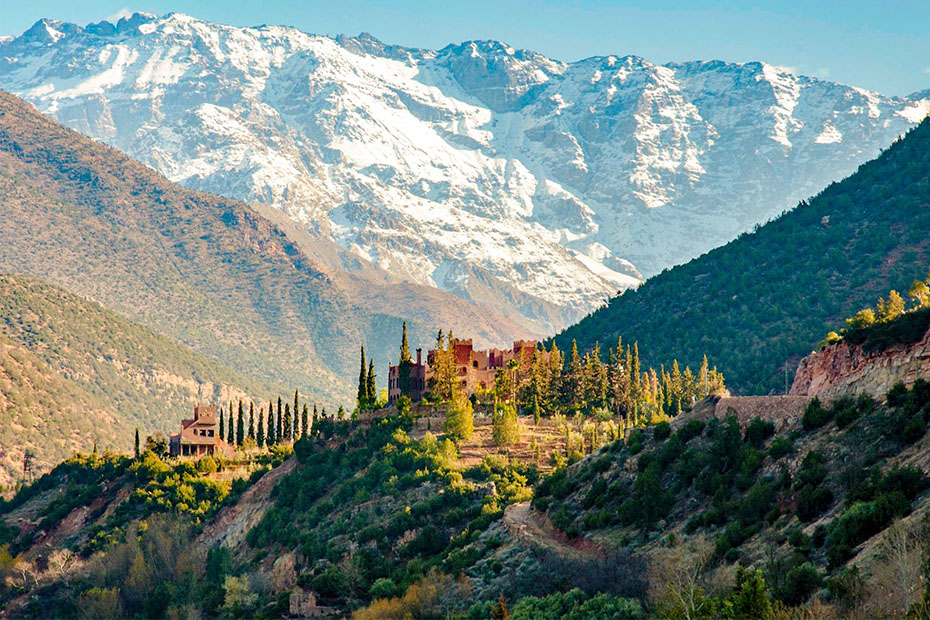 beautiful landscape of the atlas mountains