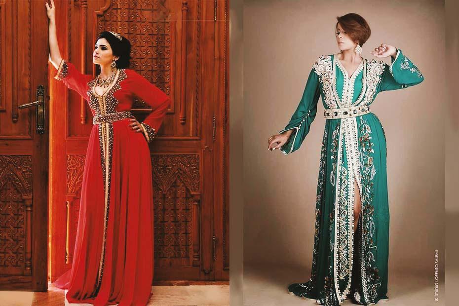 Women wearing Moroccan caftan
