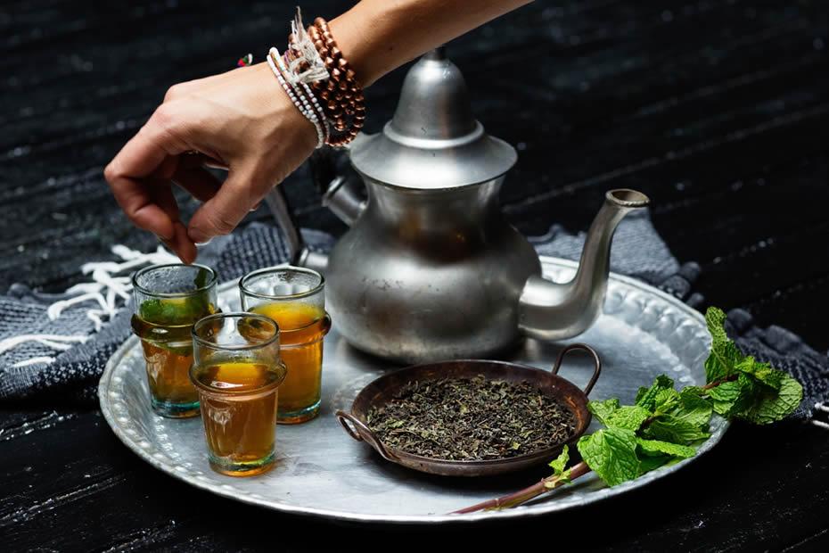 a beautiful Moroccan tea set